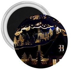 Christmas Advent Candle Arches 3  Magnets
