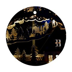 Christmas Advent Candle Arches Ornament (Round)