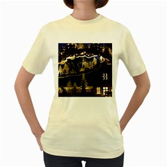 Christmas Advent Candle Arches Women s Yellow T-Shirt