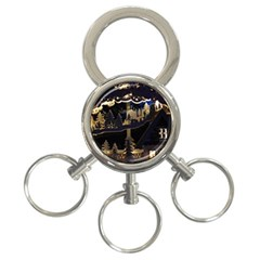 Christmas Advent Candle Arches 3-Ring Key Chains