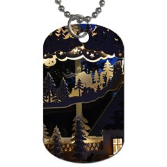 Christmas Advent Candle Arches Dog Tag (One Side)