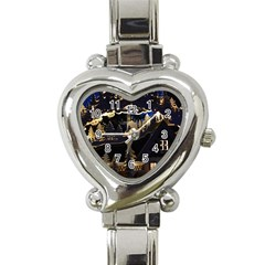 Christmas Advent Candle Arches Heart Italian Charm Watch