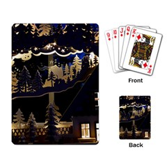 Christmas Advent Candle Arches Playing Card