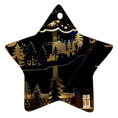 Christmas Advent Candle Arches Star Ornament (Two Sides)