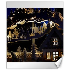 Christmas Advent Candle Arches Canvas 8  x 10
