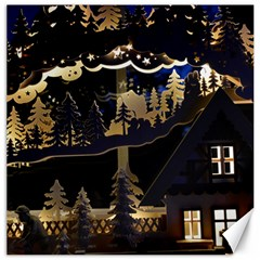 Christmas Advent Candle Arches Canvas 12  x 12