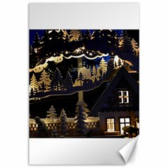 Christmas Advent Candle Arches Canvas 12  x 18