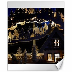 Christmas Advent Candle Arches Canvas 16  x 20