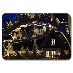 Christmas Advent Candle Arches Large Doormat