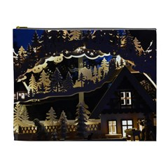 Christmas Advent Candle Arches Cosmetic Bag (XL)