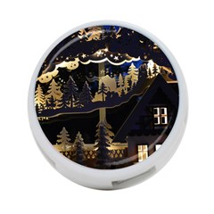 Christmas Advent Candle Arches 4-Port USB Hub (Two Sides)