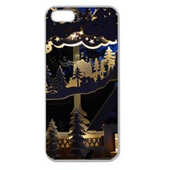 Christmas Advent Candle Arches Apple Seamless iPhone 5 Case (Clear)