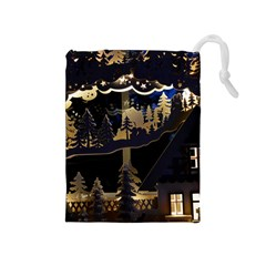 Christmas Advent Candle Arches Drawstring Pouches (medium)