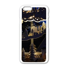 Christmas Advent Candle Arches Apple iPhone 6/6S White Enamel Case