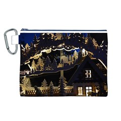 Christmas Advent Candle Arches Canvas Cosmetic Bag (L)