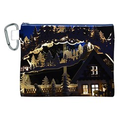 Christmas Advent Candle Arches Canvas Cosmetic Bag (XXL)