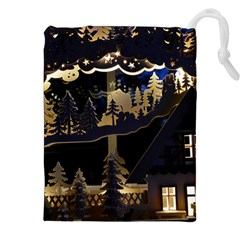 Christmas Advent Candle Arches Drawstring Pouches (XXL)