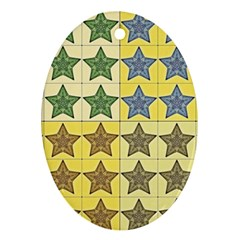 Pattern With A Stars Ornament (Oval)