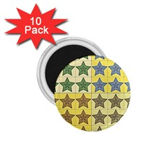 Pattern With A Stars 1.75  Magnets (10 pack)