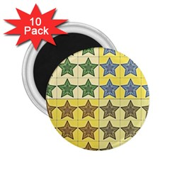 Pattern With A Stars 2.25  Magnets (10 pack)