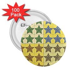 Pattern With A Stars 2.25  Buttons (100 pack)