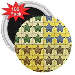 Pattern With A Stars 3  Magnets (100 pack)