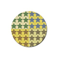 Pattern With A Stars Rubber Coaster (Round)
