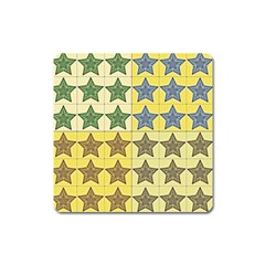 Pattern With A Stars Square Magnet