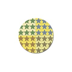 Pattern With A Stars Golf Ball Marker (4 pack)