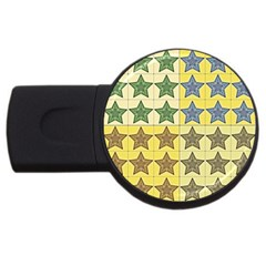 Pattern With A Stars USB Flash Drive Round (2 GB)