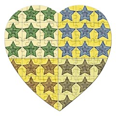 Pattern With A Stars Jigsaw Puzzle (Heart)