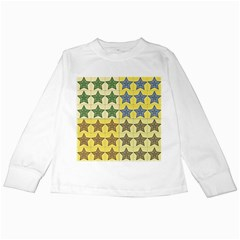 Pattern With A Stars Kids Long Sleeve T-Shirts