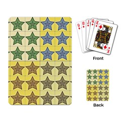 Pattern With A Stars Playing Card
