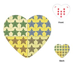 Pattern With A Stars Playing Cards (Heart)