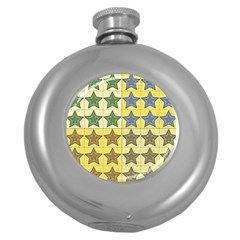 Pattern With A Stars Round Hip Flask (5 oz)