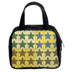 Pattern With A Stars Classic Handbags (2 Sides)