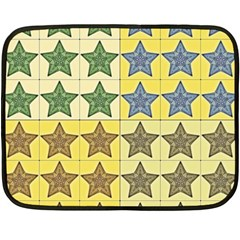 Pattern With A Stars Double Sided Fleece Blanket (Mini)