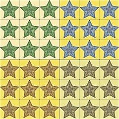 Pattern With A Stars Magic Photo Cubes
