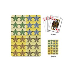 Pattern With A Stars Playing Cards (Mini)