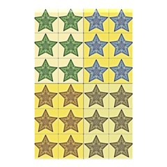 Pattern With A Stars Shower Curtain 48  x 72  (Small)