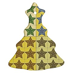 Pattern With A Stars Christmas Tree Ornament (Two Sides)
