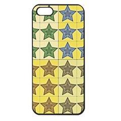Pattern With A Stars Apple iPhone 5 Seamless Case (Black)