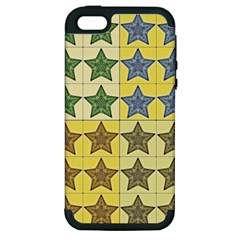 Pattern With A Stars Apple iPhone 5 Hardshell Case (PC+Silicone)