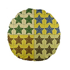 Pattern With A Stars Standard 15  Premium Round Cushions