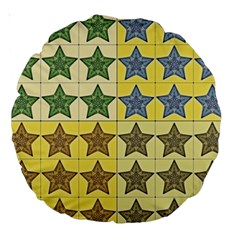 Pattern With A Stars Large 18  Premium Round Cushions