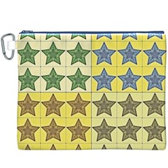 Pattern With A Stars Canvas Cosmetic Bag (XXXL)