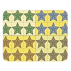 Pattern With A Stars Double Sided Flano Blanket (large)