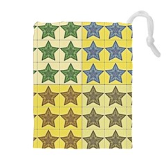 Pattern With A Stars Drawstring Pouches (Extra Large)