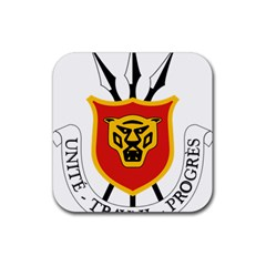 Burundi Coat Of Arms  Rubber Square Coaster (4 Pack)
