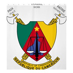 Coat Of Arms Of Cameroon  Shower Curtain 66  X 72  (large)